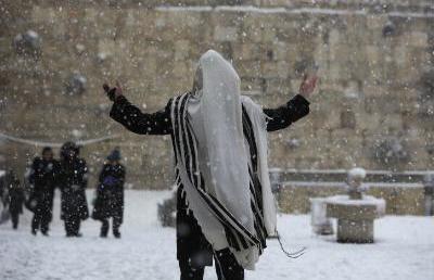 Nem szokványos jelenség: lezárták Jeruzsálemet a havazás miatt (Videóval)