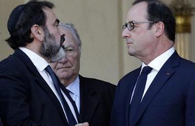 Zsidó vezetőkkel találkozott a francia elnök