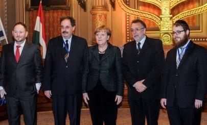 A magyarországi zsidóság képviselői megköszönték Angela Merkel látogatását