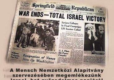 A hatnapos háborúra emlékezik a Mensch Nemzetközi Alapítvány