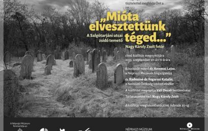 Kiállítás a Néprajzi Múzeumban: A Salgótarjáni utcai zsidó temető