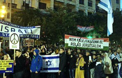 Szimpátiatüntetést tartottak Izrael mellett