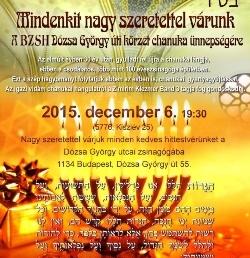 Nagy ünnepséggel köszöntik az idei Hanukát a Dózsa zsinagógában