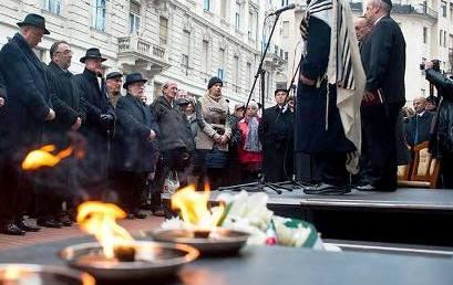 Megemlékezés a gettó felszabadításának 72. évfordulója alkalmából