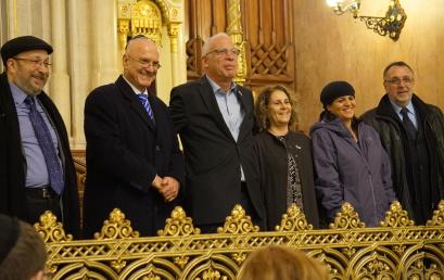 Izrael Állam mezőgazdasági minisztere a Dohány zsinagógába látogatott