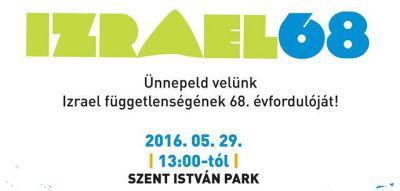 Május végén Izrael függetlenségét ünnepeljük a Szent István parkban