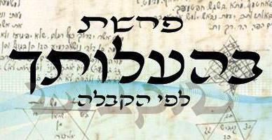 Következő hetiszakaszunk: Beháálotchá (בְּהַעֲלֹותְךָ)