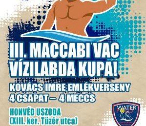 Vasárnap Maccabi VAC Vízilabda Kupa a Tüzér utcában!