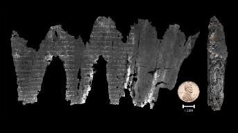 Kétezer éves, szénné égett bibliai tekercset fejtettek meg