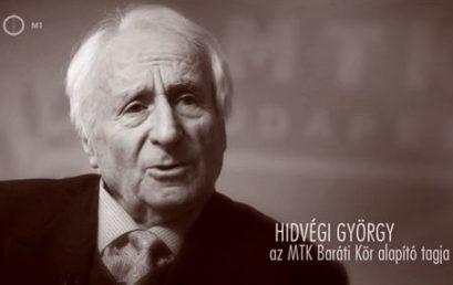 Pénteken búcsúzunk a 94 éves korában elhunyt Hidvégi Györgytől