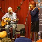 Hernádi Judit és Heilig Gábor az újpesti zsinagóga klubjában léptek fel