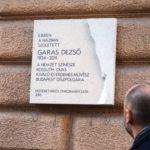 Emléktáblát avattak Erzsébetvárosban Garas Dezső tiszteletére