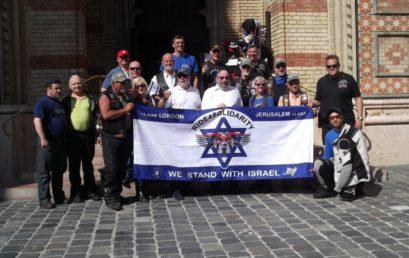 Londonból a Maccabi Játékokra – motorral