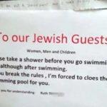 Egy svájci hotelben megszabták a zsidó vendégeknek, hogy zuhanyozzanak a medencehasználat előtt