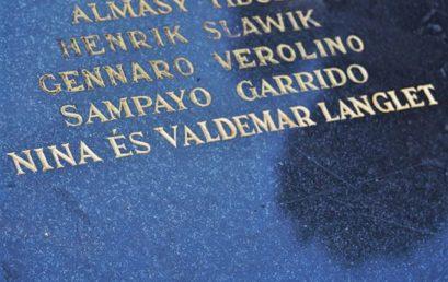 A zsidómentő Nina és Valdemar Langlet emléke előtt tisztelegtek