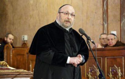 Dr.Frölich Róbert lemondott az Országos Főrabbi tisztségről (Frissítve!)