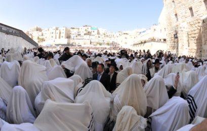 Közel százezren vettek részt a kohaniták áldásán Jeruzsálemben