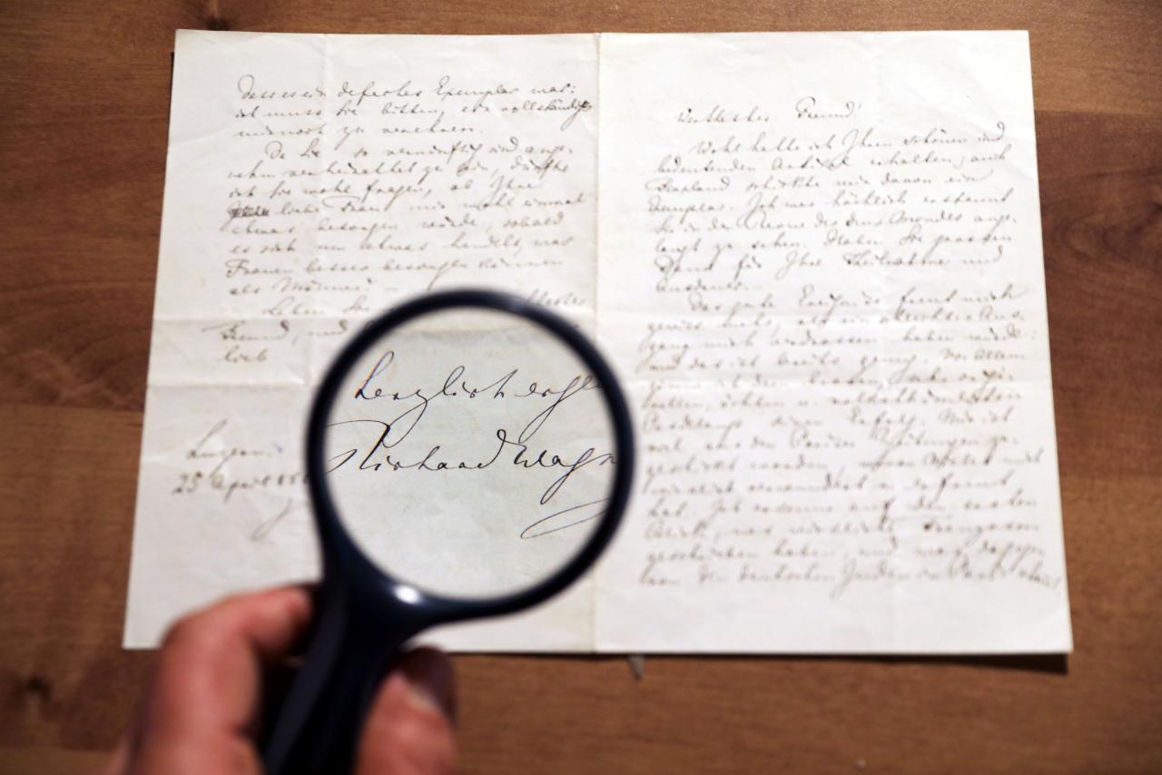 Több mint 10 millió forintért kelt el Wagner levele egy jeruzsálemi árverésen