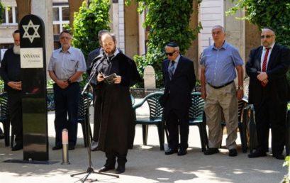 Sziván hónap huszadikán a holokauszt áldozataira emlékeztek a Dohány zsinagógánál
