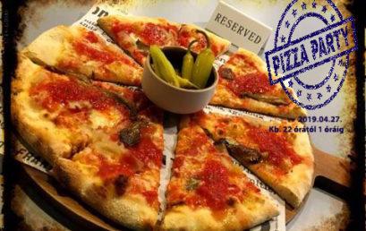 Szombaton este pizza partival búcsúztatjuk Pészachot