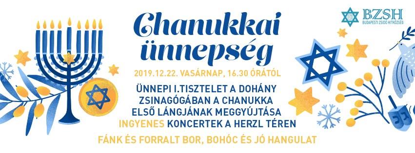 Közös Hanuka-ünnepséget rendez a Dohány és a Hegedűs Gyula utcai zsinagóga