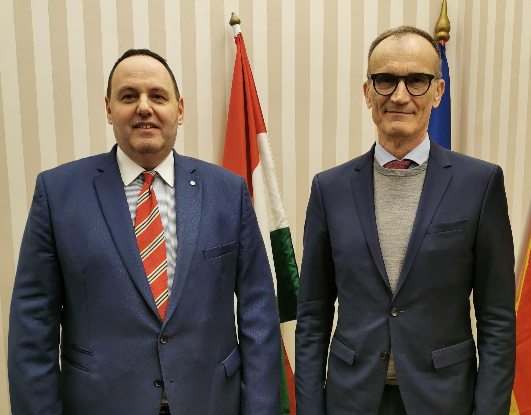 Németország magyarországi nagykövete a BZSH elnökénél járt