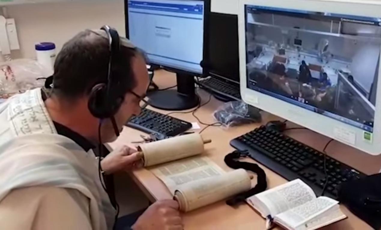 Karanténban lévőknek biztosították a Tóraolvasást egy izraeli kórházban