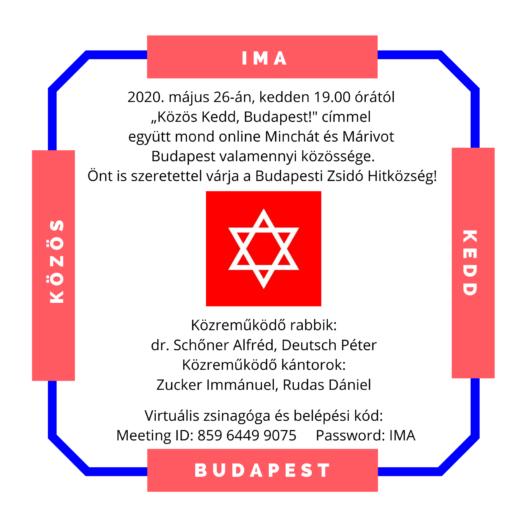 Közös Kedd, Budapest – csatlakozzanak a közös online imádkozáshoz!