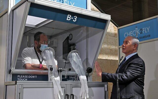 Labort adtak át a Ben Gurion repülőtéren, hogy gyorsan kiszűrhessék a fertőzötteket