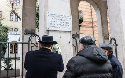 A pesti gettó felszabadításának 76. évfordulójára emlékeztünk