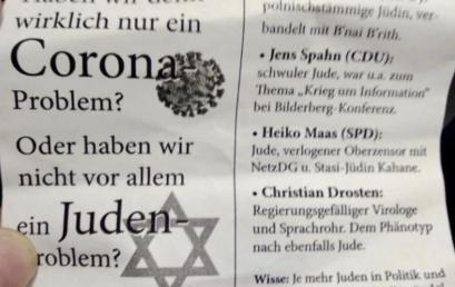 Antiszemita hirdetésekkel vontak párhuzamot a járvány és a zsidóság között Kölnben
