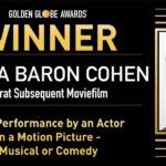 Sacha Baron Cohen egyedülálló rekordot állított fel a Borat újabb Golden Globe győzelme után