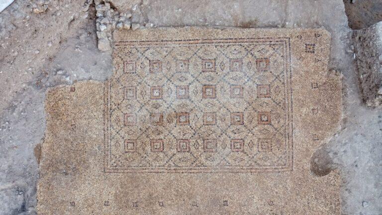 Yavne városában állítják ki a korábban feltárt bizánci korból származó mozaikot