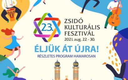 Ma este kezdődik a 23. Zsidó Kulturális Fesztivál