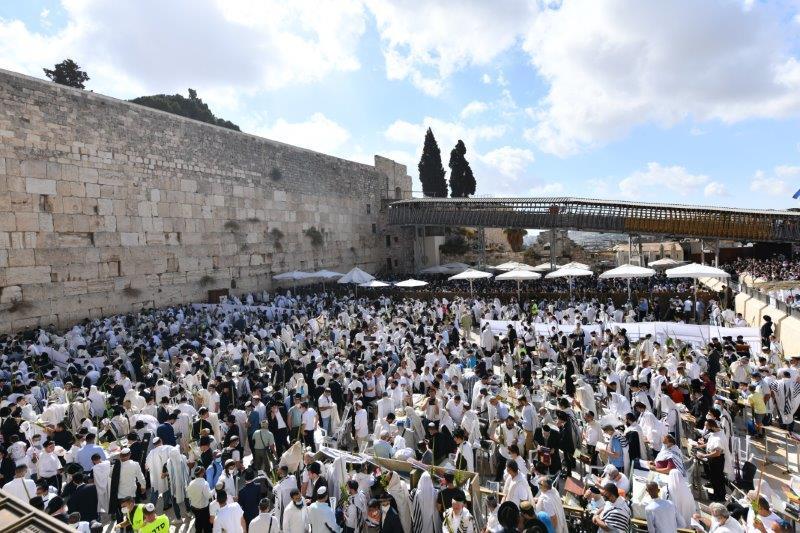 Tízezrek vettek részt a kohaniták áldásán Jeruzsálemben